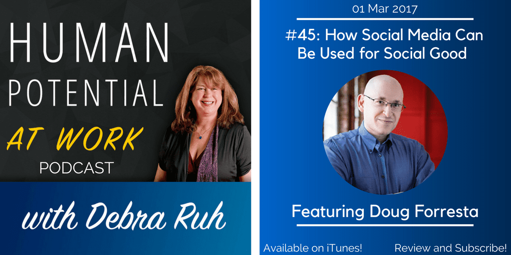 Episode Flyer for EP #45: How Social Media Can Be Used For Social Good