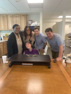 Rosemary with her Caregiver and Friends