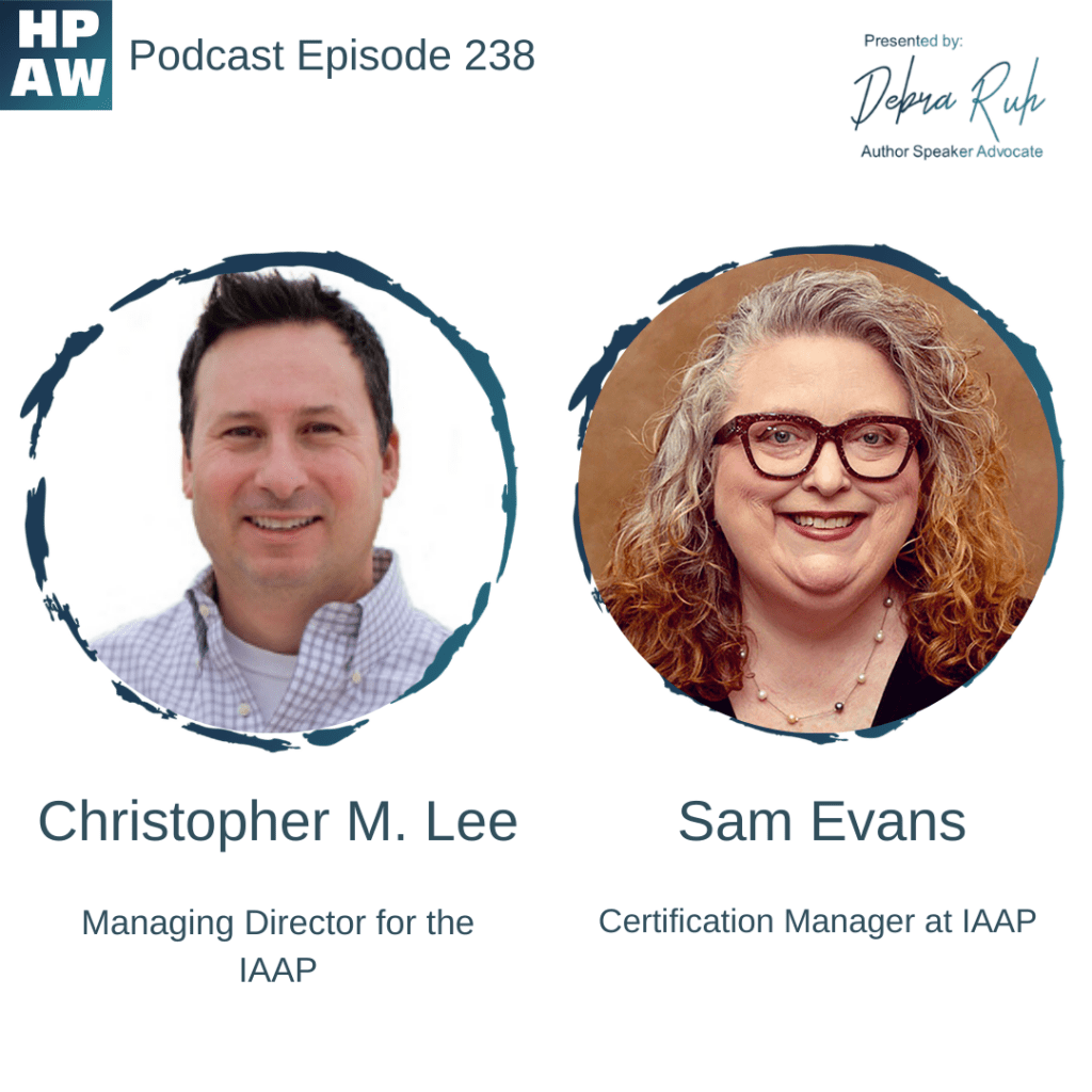 Christopher Lee & Sam Evans Managing Director & Certification Manager for the IAAP