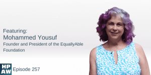 Mohammed Yousuf Founder and President of the EquallyAble Foundation