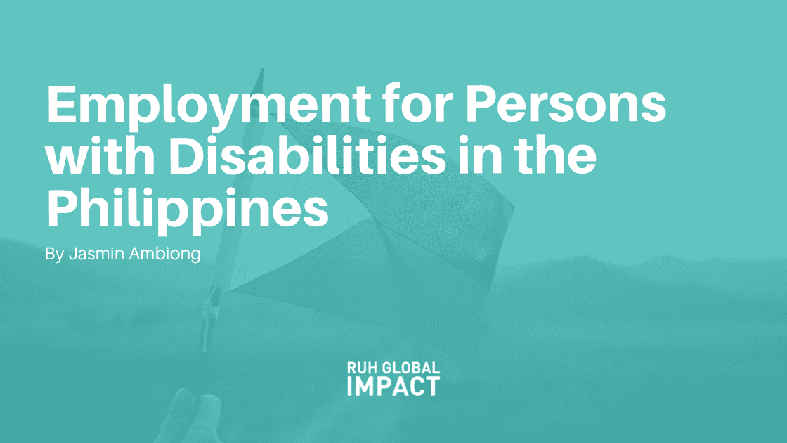 Employment for Persons with Disabilities in the Philippines