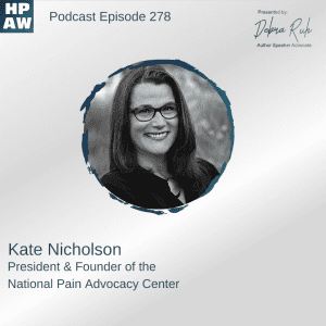 kate nicholson president and founder of the national pain advocacy center